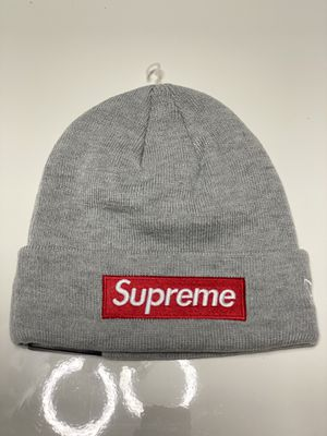 Supreme Box Logo Gray Beanie Red Hat for Sale in Greenwich, CT