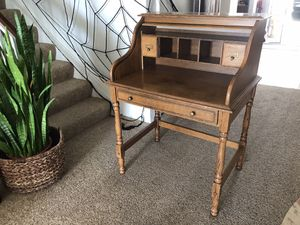 Antique solid wood desk and chair for Sale in San Clemente, CA