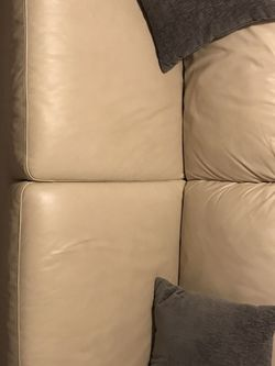 Sleeper Leather Sofa And Chair for Sale in Tampa,  FL