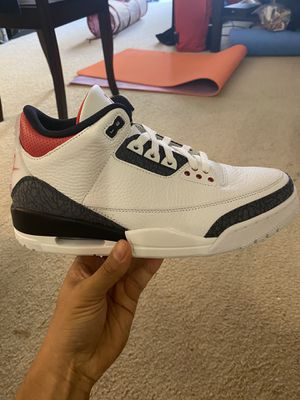 Jordan 3 Fire Red Denim, sizes 9, 9.5, 10 for Sale in San Jose, CA