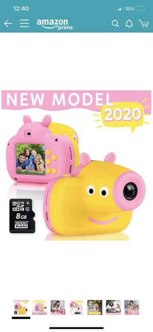 Cute Digital Camera for Kids - 8GB SD Card Included - Adorable Piggy Design - Durable Photography Toys Birthday Idea for Boys and Girls 3 4 5 6 7 8 Y for Sale in Chicago, IL