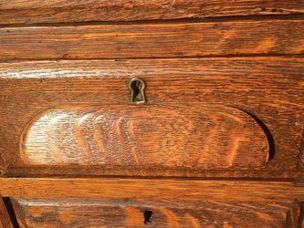 1800s Tiger Oak Cabinet Side Tables Quarter Sawn for Sale in Fairfax,  VA