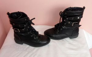 Girls size 12 black boots for Sale in Ladson, SC