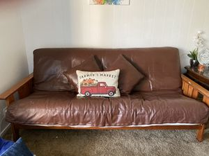 Leather futon couch for sale for Sale in Vallejo, CA