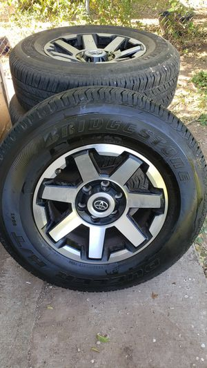 Toyota trd rims and tires for Sale in Grape Creek, TX