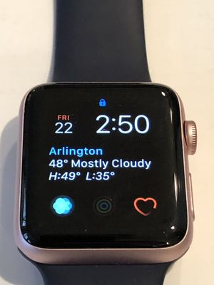 Apple Watch Series 2 42mm Smartwatch (Rose Gold Aluminum Case, Midnight Blue Sport Band) for Sale in Arlington, VA