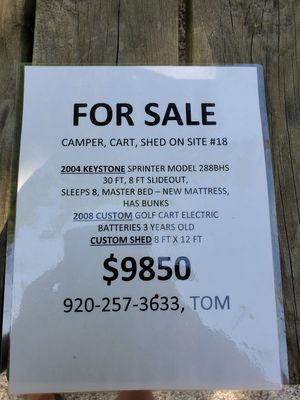 Seasonal campsite for Sale in Menasha, WI
