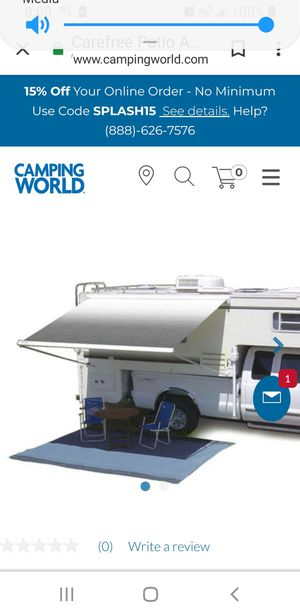 Awning for camper or porch for Sale in Abilene, TX