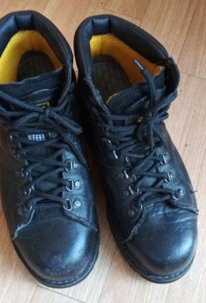 Caterpillar steel toe work boots sz 8.5 wide width for Sale in Tampa, FL