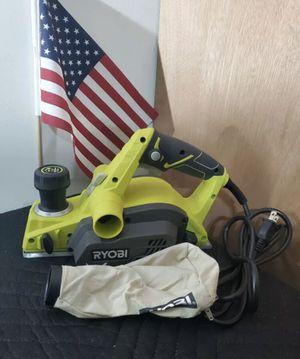 RYOBI Hand Planer 3-1/4 in. 6 Amp Motor Reversible Double-Edged Blade Corded for Sale in St. Petersburg, FL