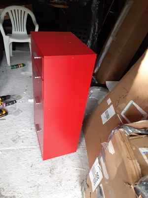 Red 3 cabinet file cabinet with lock and key for Sale in Jonesboro, GA