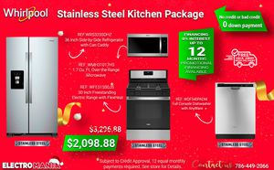 Whirlpool 4-Piece Kitchen Appliance Package for Sale in Miami, FL