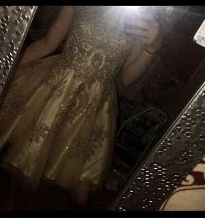 champagne sparkly hoco // prom dress for Sale in Lehi, UT