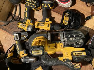 Dewalt Bandsaw,3 drills and a charger for Sale in Dallas, TX