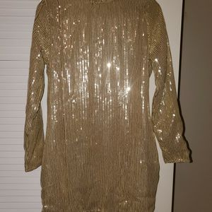 Gold Sequin Bodycon Dress - SIZE 8 - PLT for Sale in Potomac, MD