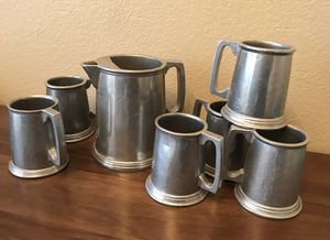 Pewter pitcher and stein set for Sale in Chandler, AZ