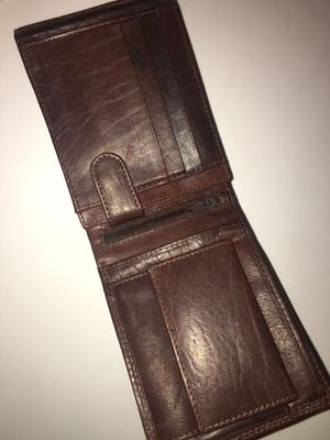 Brown leather wallet , for Sale in Stockton, CA