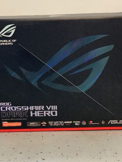 ASUS ROG Crosshair VIII Dark Hero AMD AM4 Zen 3 Ryzen 5000 & 3rd Gen Ryzen ATX Gaming Motherboard for Sale in Union City,  CA