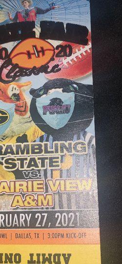 Grambling vs PV tickets for Sale in Dallas,  TX