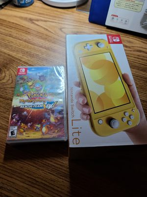 Nintendo switch Lite + Pokemon Dungeon(Sealed) for Sale in San Diego, CA
