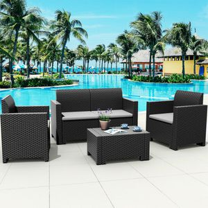 4 Pcs Patio Furniture Set Home Outdoor Decor for Sale in Los Angeles, CA