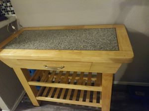 Extra kitchen island counter top with storage and drawer for Sale in Fort Worth, TX