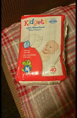 Newborn kidgets diapers for Sale in Chicago, IL