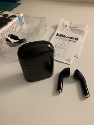 Billboard Black Wireless Earbuds with Charging Case for Sale in Boston, MA