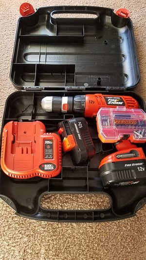 Black & Decker Fire Storm Drill and Charger for Sale in Gaithersburg, MD