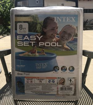 Intex 8ft x 30in Easy Set Inflatable Above Ground Family Swimming Pool (No Pump) for Sale in Chicago, IL
