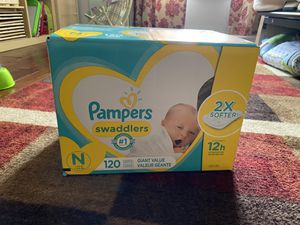 Unopened newborn diapers for Sale in Naperville, IL