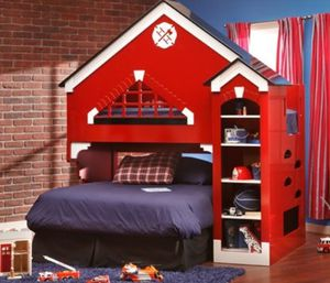 Furniture Row Kids Fire Station Bunk Bed for Sale in Centennial, CO