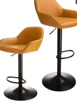 Glitzhome Mid Century Leatherette Adjustable Bar Stool for Sale in Phoenix,  AZ