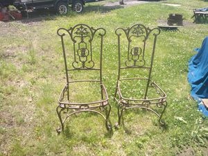 Antique metal chairs frames for Sale in Bratenahl, OH