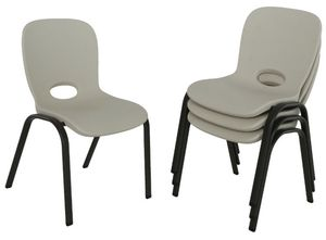 Lifetime stacking kids chairs 4pc for Sale in Rancho Cucamonga, CA