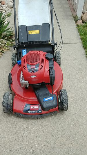 This is a Toro recycler 22 in all-wheel drive 7/2 horsepower self-propelled mower for Sale in Salt Lake City, UT