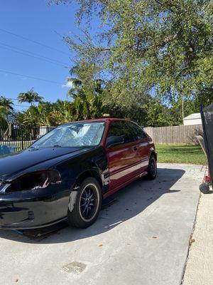 Civic hatchback ek 2000 front for Sale in Palmetto Bay, FL