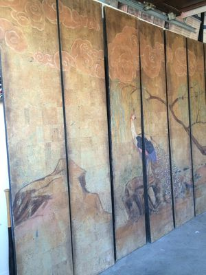 Beautiful Large Folding Wall Art with Peacock for Sale in Los Angeles, CA