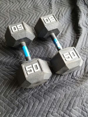 Pair or 50Lb Hex Dumbbells. $70 for Sale in Downey, CA