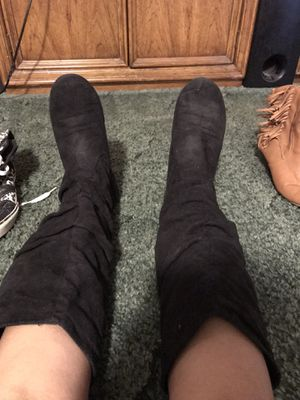 Black suede boots for Sale in Arlington, TX