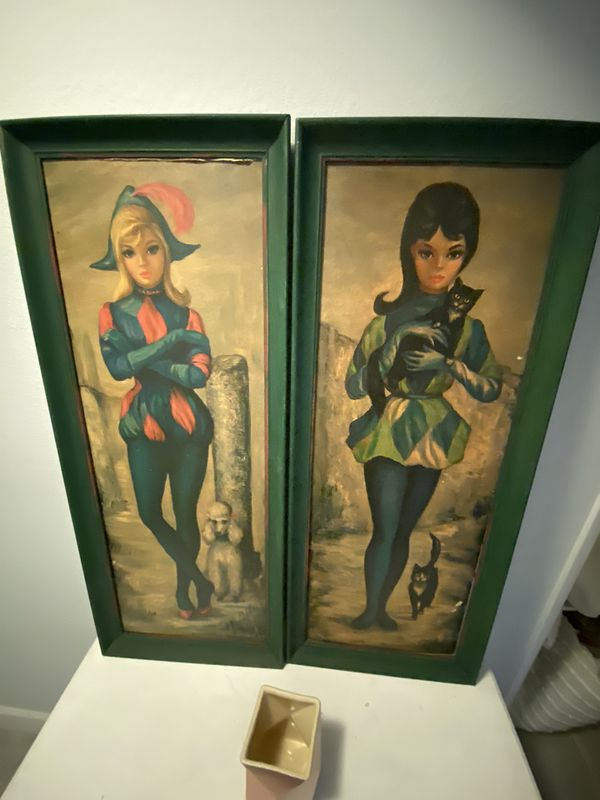 Russian inspired pair of artwork