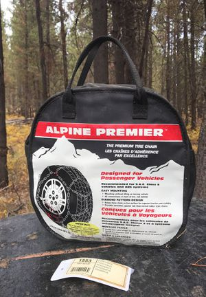 Brand new alpine premier snow chains for 15 and 16 inch rims for Sale in Bend, OR