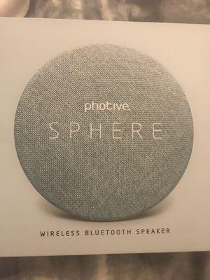New in Box! photive sphere wireless Bluetooth speaker for Sale in Winnetka, IL