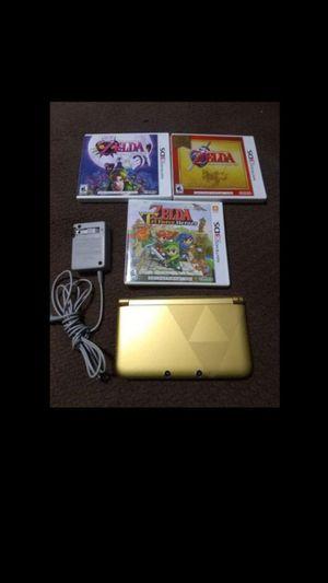 3ds xl Zelda triforce edition with 3zelda games $240 for Sale in Escondido, CA