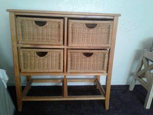 Wicker dresser - 4 drawer $25 o.b.o. for Sale in Manteca, CA