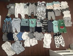 Newborn Baby Boy Clothes Lot 55 pieces $80 for Sale in San Jose, CA