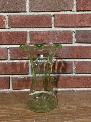 Vintage Green Depression Glass Vase for Sale in Tinley Park, IL