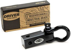 "Driver Recovery 2"" Trailer Hitch Receiver with 3/4"" Bow / D-Ring Shackle - Heavy Duty 10,000 Pound (5 Ton) Towing Capacity - Black for Sale in Tamarac, FL"
