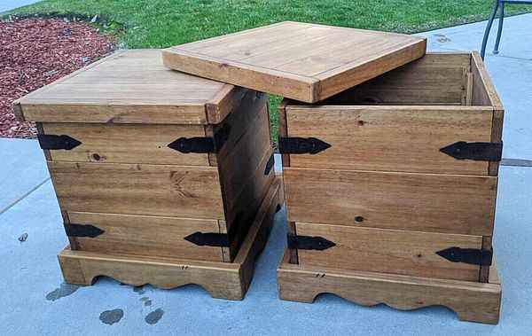 Farmhouse storage tables, $80.00 or best offer. Pick Up Only
