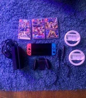 Nintendo Switch with games and accessories for Sale in Obetz, OH